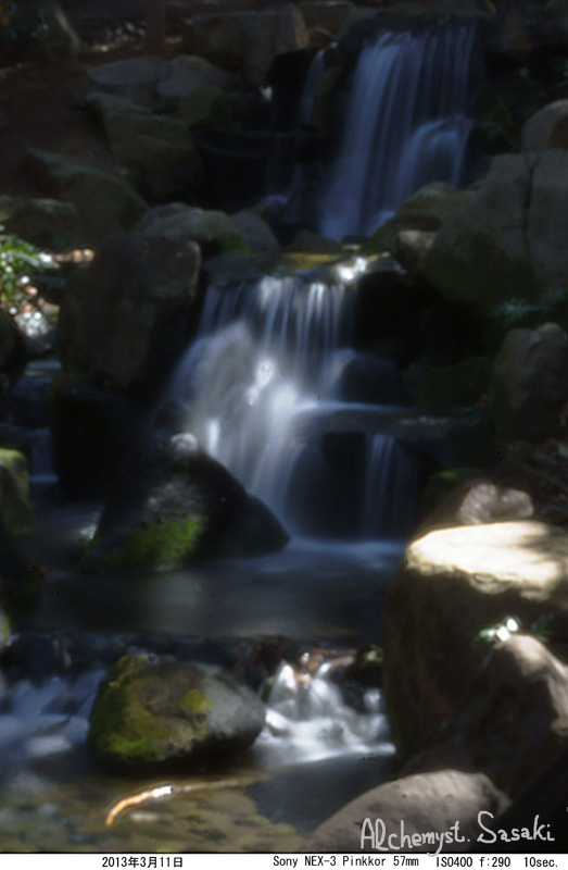 滝 超軟焦点レンズで