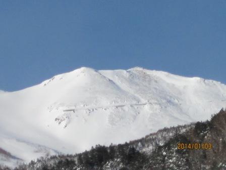 20140103の乗鞍岳