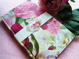 薔薇のハードカバーのノート|福知山・雑貨