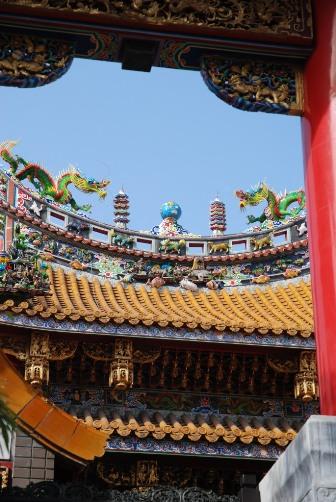 関帝廟の地球儀