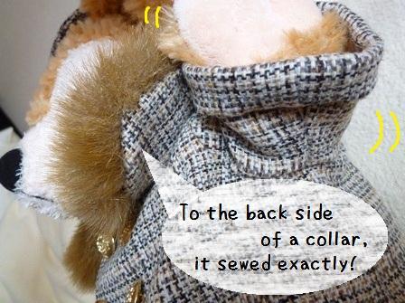 ダッフィー手作りコスチューム あったかコート