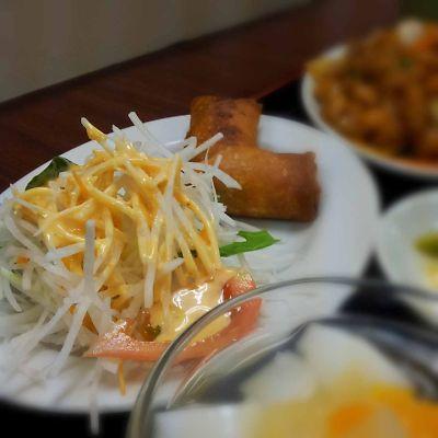 東方美食 サラダ&春巻き