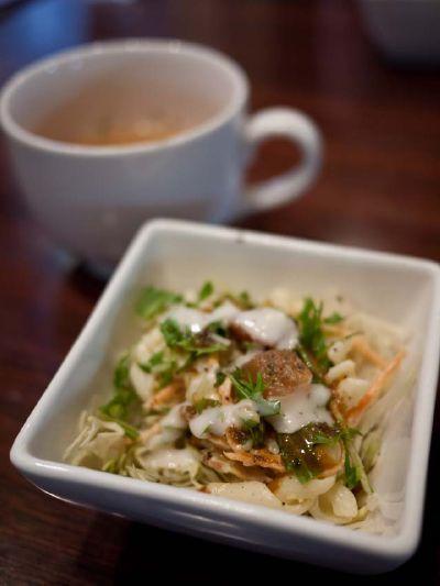 ブラウンシュガーカフェ ランチのサラダ