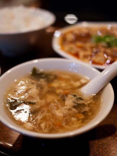 山東貴賓楼 ランチのスープ
