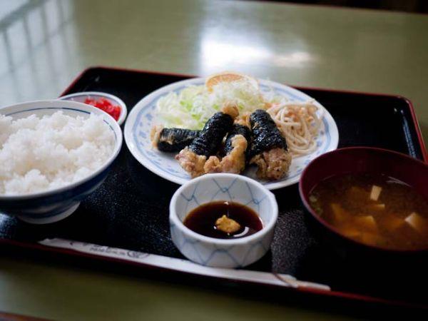 山田かん食堂 若鶏のいそあげ定食
