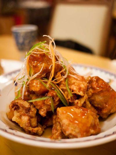 香林酒家 鶏の唐揚げ甘酢がけ