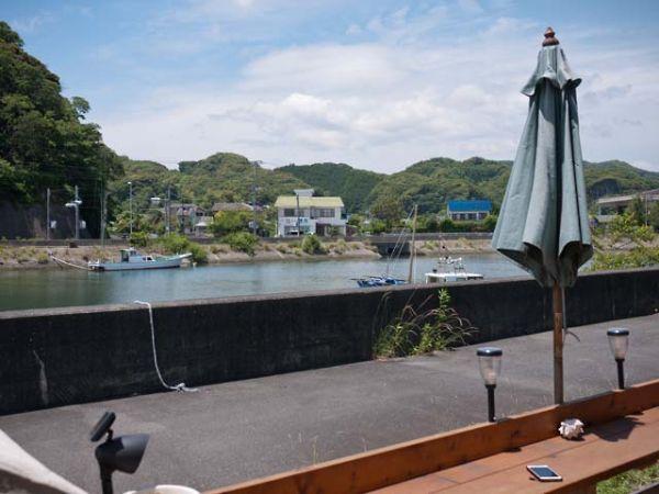弓ヶ浜 e73 テラス席から見る風景