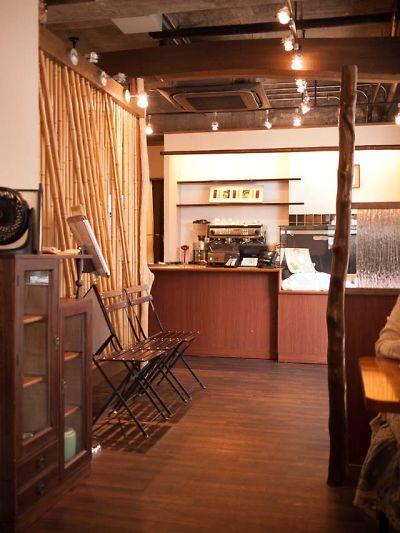 邑 wagashi&cafe 店内