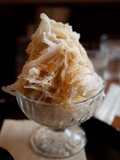 邑 wagashi&cafe 和三盆エスプレッソかき氷