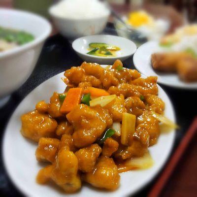 東方美食 鶏肉の辛炒め