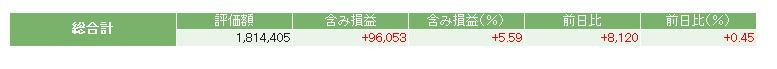 評価損益20141130
