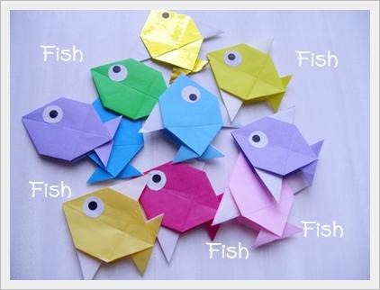 クリスマス 折り紙:折り紙 魚 折り方-anemomo0329.blog118.fc2.com