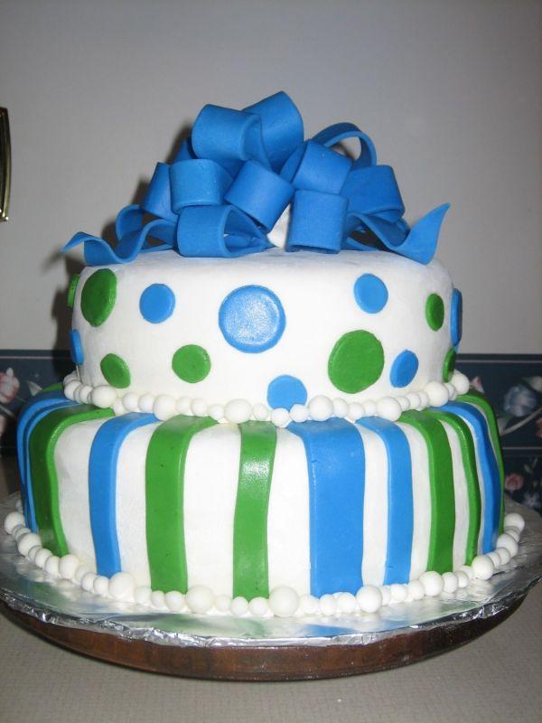grrenblue cake