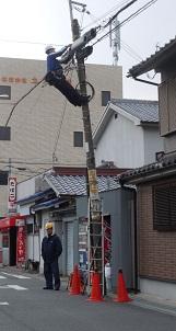 電柱工事1