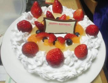 義母さんお手製ケーキ