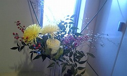 s13年正月玄関花