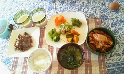 朝食メユー野菜
