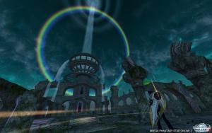 気象現象 円形の虹 夜Ver.