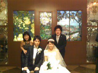 純・尚子結婚式4人110828_1100~01