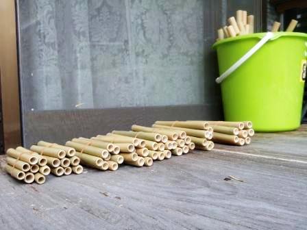 竹の仕分け