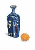 ネット水彩画テキスト2模写見本画・瓶とレモン