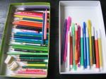 色鉛筆とペンたち