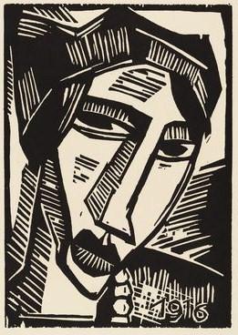 女性の頭部1916年 - コピー
