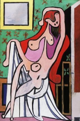 赤い肘掛椅子の裸婦1929年_convert_20100506015422