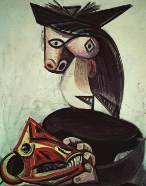 山羊の頭骨を持つぼうしの女1939年_convert_20100511221201