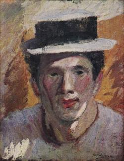麦わら帽子の自画像1911年_convert_20100609164739