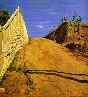 道路と土手と塀・切通の写生1915年_convert_20100609180217
