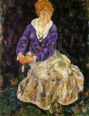 座っているエディト・シーレの肖像1917~18年_convert_20100708214713