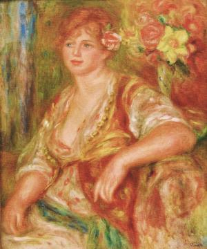 バラをさしたブロンドの女_convert_20110110223530