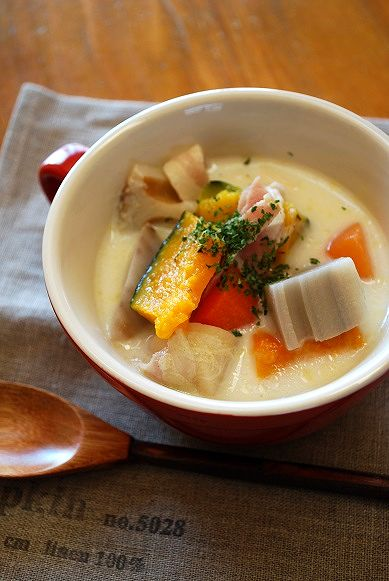 根菜ミルクスープ
