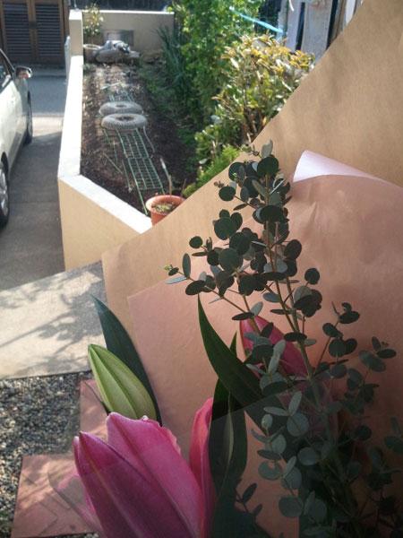 いつもと違った雰囲気の花を選びました