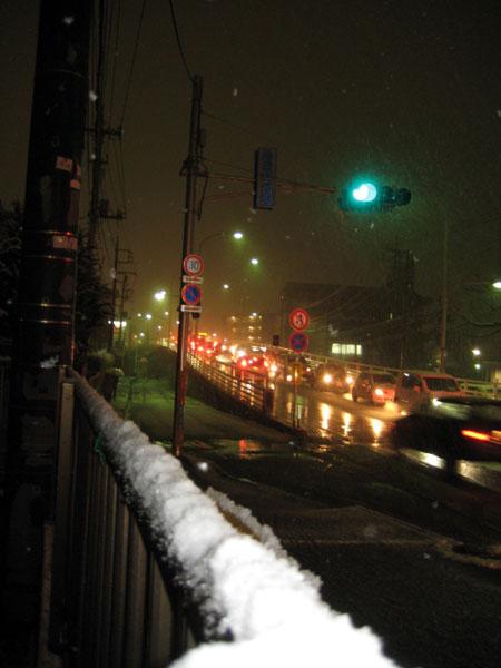 バレンタインの夜は大雪になりました