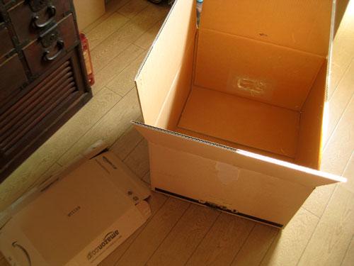 DELLぱそが入ってきた箱