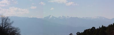 牛伏寺からのアルプス2