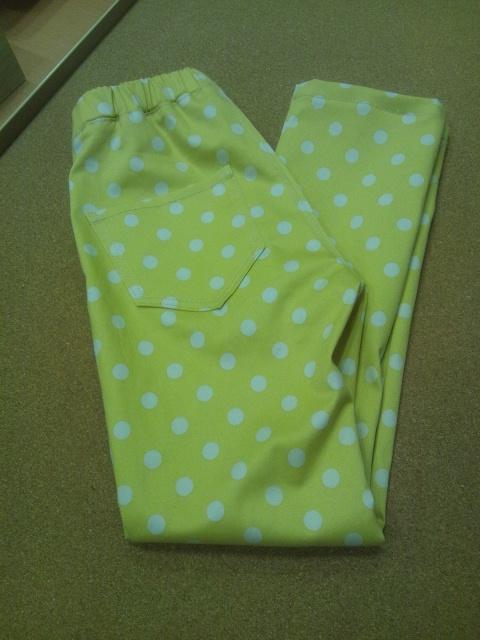 黄色ドットパンツ2