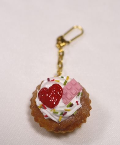 Aterier Aru ふわふわミニカップケーキのキーホルダー