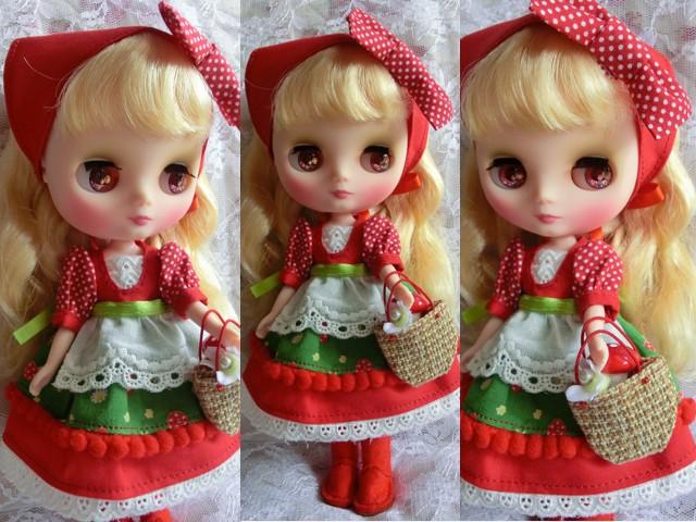 ◆ミディブライス服・靴◆赤ずきんちゃん☆きのこの森へ2set◇