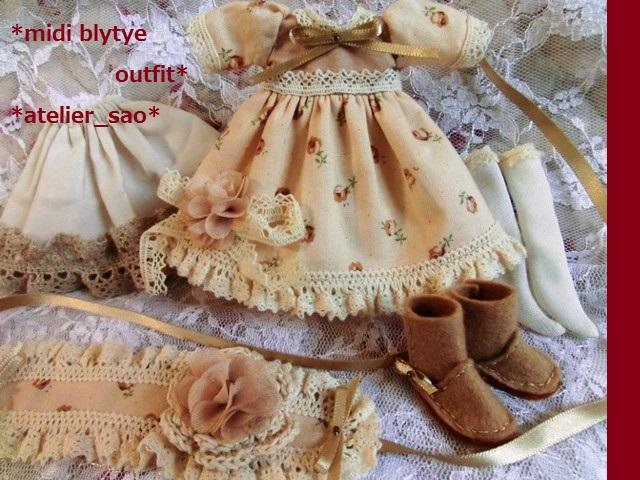 ◆ミディブライス服・ブーツ◆ナチュラルベージュなドレスset◇3