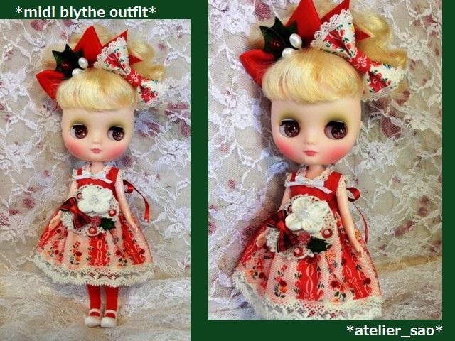 ◆ミディブライス服◆赤と白のナチュラル☆クリスマスset◇1