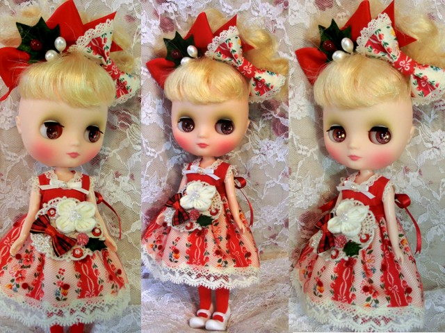 ◆ミディブライス服◆赤と白のナチュラル☆クリスマスset◇2