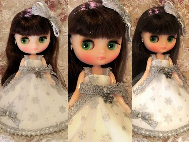 ◆ミディブライス服◆雪のホワイトロングドレスset◇2