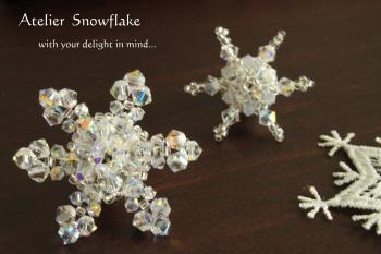 snowflake-ピンブローチ