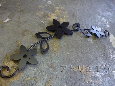 お花+葉っぱ妻飾り