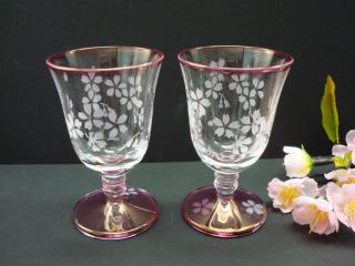 桜ミニグラス
