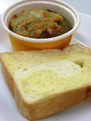 10.08.05パンプキンブレッド&小松菜ロール_試食