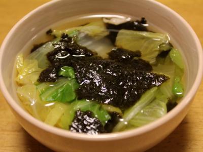 11.01.14白菜と海苔のすまし汁
